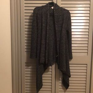 Black/Grey knit cardigan